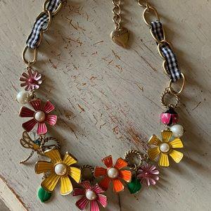 Betsey Johnson Flower Girl Necklace